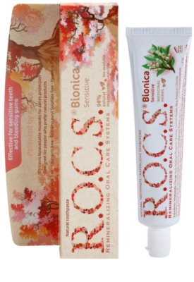 R.O.C.S. Bionica Sensitive натуральна зубна паста проти кровоточивості ясен для чутливих зубів 1