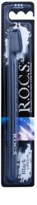 R.O.C.S. Black Edition escova de dentes medium