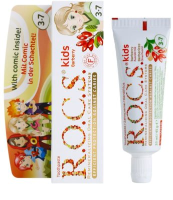 R.O.C.S. Kids Barberry zubní pasta pro děti 1