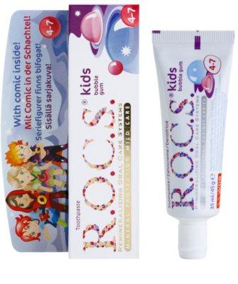 R.O.C.S. Kids Bubble Gum зубна паста для дітей 1