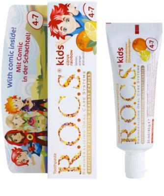 R.O.C.S. Kids Citrus Rainbow Pasta de dinti pentru copii. 1