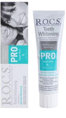 R.O.C.S. PRO Sweet Mint jemná bělicí zubní pasta 1