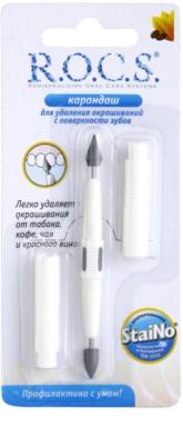R.O.C.S. StaiNo lápiz blanqueador para quitar manchas del esmalte dental