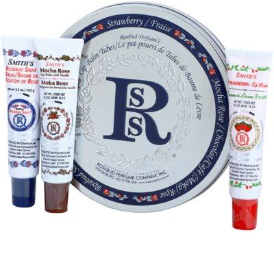 Rosebud Perfume Co. Smith's Rosebud Lip Balm Trio kosmetická sada I.