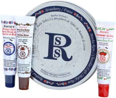 Rosebud Perfume Co. Smith's Rosebud Lip Balm Trio set cosmetice I.