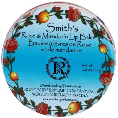 Rosebud Perfume Co. Smith`s Rose & Mandarin balsam de buze cu mandarine