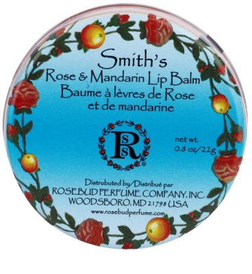 Rosebud Perfume Co. Smith`s Rose & Mandarin bálsamo de lábios com tangerina