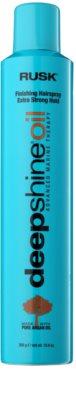 Rusk Deep Shine Oil rychleschnoucí sprej na vlasy pro fixaci a tvar