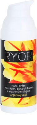 RYOR Argan Oil crema de noche con seda y beta glucano 1