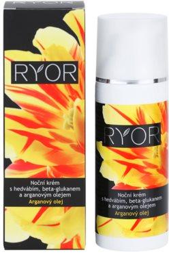 RYOR Argan Oil crema de noche con seda y beta glucano 2