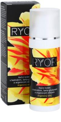 RYOR Argan Oil crema de noche con seda y beta glucano 3