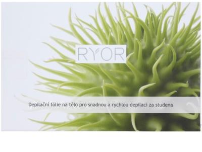 RYOR Depilation and Shaving bandas de cera fria para depilação corporal fácil e rápida