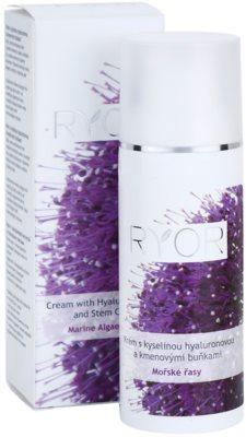 RYOR Marine Algae Care creme com ácido hialurónico e células estaminais 3