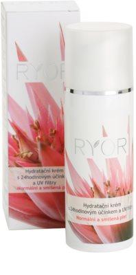 RYOR Normal to Combination crema hidratante 24 horas con filtros solares UV 2