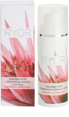 RYOR Normal to Combination crema hidratante 24 horas con filtros solares UV 3