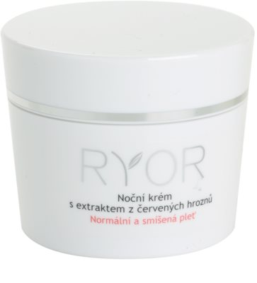 RYOR Normal to Combination crema de noche con extracto de uva roja