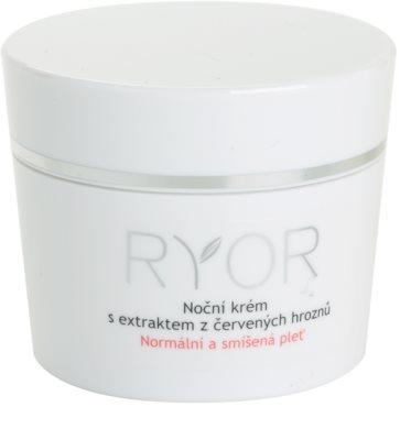 RYOR Normal to Combination Nachtcreme mit Extrakten aus roten Weintrauben
