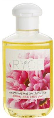 RYOR Ryamar óleo de amaranto para pele e corpo