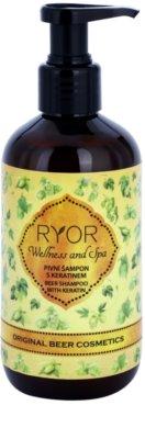 RYOR Wellness and Spa Beer Cosmetics Haarshampoo mit Bier mit Keratin