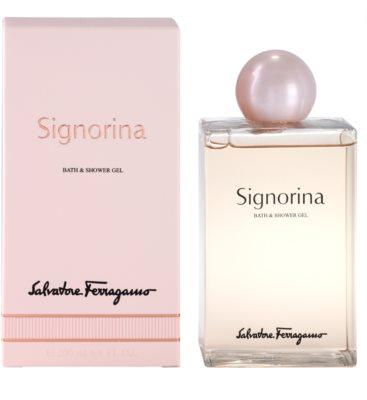 Salvatore Ferragamo Signorina gel de dus pentru femei