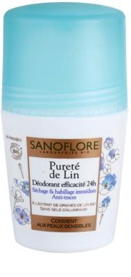 Sanoflore Déodorant desodorante roll-on sin aluminio  24h
