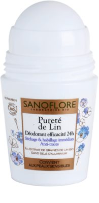 Sanoflore Déodorant Desodorizante Roll-On sem amoníaco 24 h 1