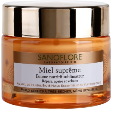 Sanoflore Miel Supreme Visage odżywczy balsam do skóry suchej i bardzo suchej