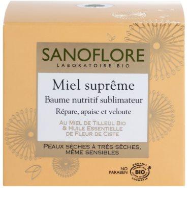 Sanoflore Miel Supreme Visage odżywczy balsam do skóry suchej i bardzo suchej 3