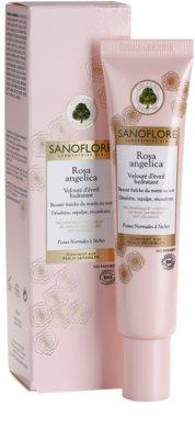 Sanoflore Rosa Angelica crema hidratante iluminadora para pieles normales y secas 2