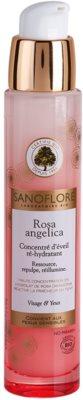 Sanoflore Rosa Angelica sérum hidratante iluminador para rostro y ojos