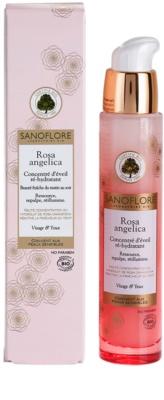 Sanoflore Rosa Angelica sérum iluminador hidratante para rosto e olhos 1