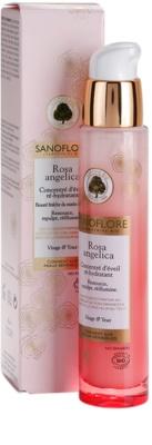 Sanoflore Rosa Angelica освітлююча зволожуюча сироватка для обличчя та очей 2