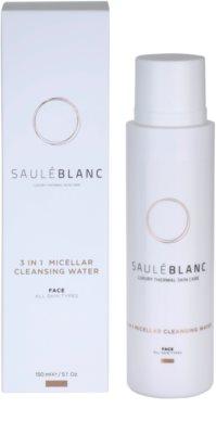 Saulé Blanc Face Care oczyszczający płyn micelarny 3 w 1 1