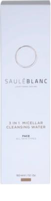 Saulé Blanc Face Care oczyszczający płyn micelarny 3 w 1 3