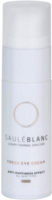 Saulé Blanc Face Care роз'яснюючий крем для шкіри навколо очей проти набряків та темних кіл