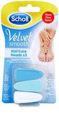 Scholl Velvet Smooth nadomestne glave za električno pilico za nohte