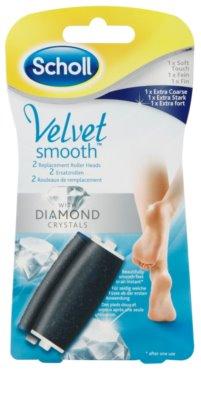 Scholl Velvet Smooth запасна насадка для електричної щітки для ніг 2 шт