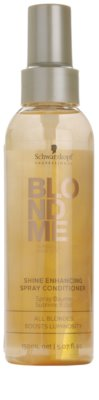 Schwarzkopf Professional Blondme condicionador sem enxaguar em spray para brilho radiante