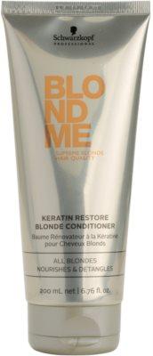 Schwarzkopf Professional Blondme balsam regenerant cu keratina pentru par blond