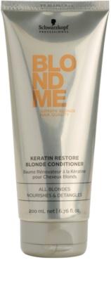 Schwarzkopf Professional Blondme keratinos regeneráló kondicionáló szőke hajra