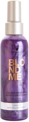 Schwarzkopf Professional Blondme condicionador sem enxaguar em spray para tons loiros frios de cabelo