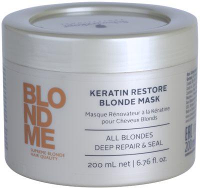 Schwarzkopf Professional Blondme keratinska regeneracijska maska za blond lase