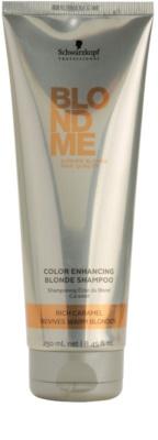Schwarzkopf Professional Blondme подсилващ шампоан за топли руси нюанси на косата