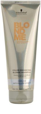 Schwarzkopf Professional Blondme подсилващ шампоан за студени руси нюанси
