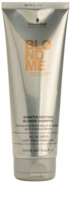 Schwarzkopf Professional Blondme Кератиновий відновлюючий шампунь для освітленого волосся