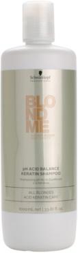Schwarzkopf Professional Blondme champú ph neutralizante con keratina para cabello rubio
