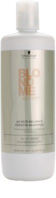 Schwarzkopf Professional Blondme pH нейтралізуючий кератиновий шампунь для освітленого волосся