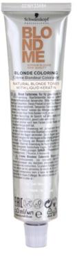 Schwarzkopf Professional Blondme Color hajfesték a természetes szőke árnyalatokra 1