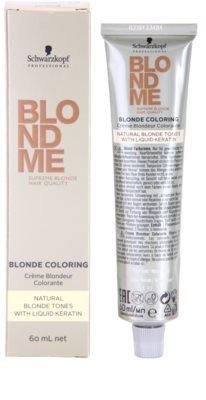 Schwarzkopf Professional Blondme Color hajfesték a természetes szőke árnyalatokra 2