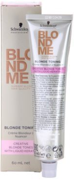 Schwarzkopf Professional Blondme Color tonizáló krém